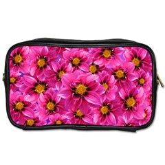 Dahlia Flowers Pink Garden Plant Toiletries Bags 2 Side by Nexatart