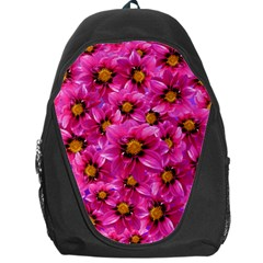 Dahlia Flowers Pink Garden Plant Backpack Bag