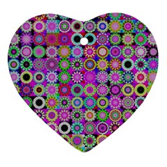 Design Circles Circular Background Ornament (heart) by Nexatart