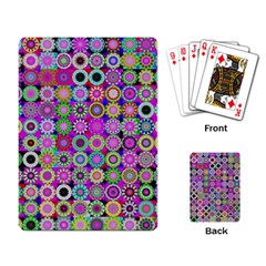 Design Circles Circular Background Playing Card