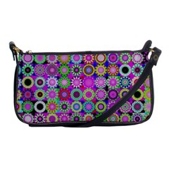 Design Circles Circular Background Shoulder Clutch Bags by Nexatart