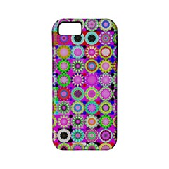 Design Circles Circular Background Apple Iphone 5 Classic Hardshell Case (pc+silicone) by Nexatart