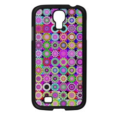 Design Circles Circular Background Samsung Galaxy S4 I9500/ I9505 Case (black) by Nexatart