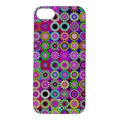 Design Circles Circular Background Apple Iphone 5s/ Se Hardshell Case by Nexatart