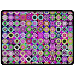 Design Circles Circular Background Double Sided Fleece Blanket (large)  by Nexatart