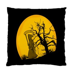 Death Haloween Background Card Standard Cushion Case (two Sides) by Nexatart