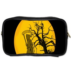 Death Haloween Background Card Toiletries Bags 2 Side by Nexatart