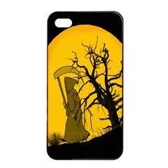 Death Haloween Background Card Apple Iphone 4/4s Seamless Case (black)