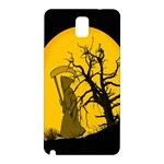 Death Haloween Background Card Samsung Galaxy Note 3 N9005 Hardshell Back Case Front