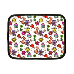 Doodle Wallpaper Netbook Case (small)  by Nexatart