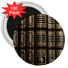 Detail Golden Gold Ornaments 3  Magnets (100 Pack) by Nexatart
