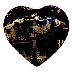 Christmas Advent Candle Arches Heart Ornament (two Sides) by Nexatart