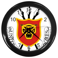 Burundi Coat Of Arms  Wall Clocks (black)