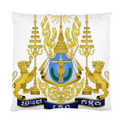 Royal Arms Of Cambodia Standard Cushion Case (two Sides)