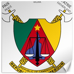 Coat Of Arms Of Cameroon  Canvas 16  X 16   by abbeyz71