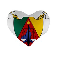 Coat Of Arms Of Cameroon Standard 16  Premium Heart Shape Cushions by abbeyz71
