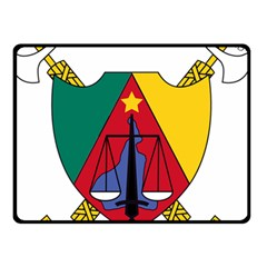 Coat Of Arms Of Cameroon Double Sided Fleece Blanket (small)