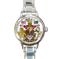 Coat Of Arms Of Canada  Round Italian Charm Watch by abbeyz71