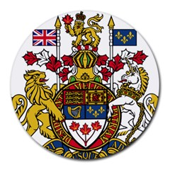 Coat Of Arms Of Canada  Round Mousepads by abbeyz71