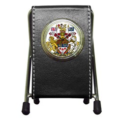 Coat Of Arms Of Canada  Pen Holder Desk Clocks by abbeyz71