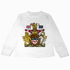 Coat Of Arms Of Canada  Kids Long Sleeve T Shirts by abbeyz71