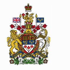 Coat Of Arms Of Canada  Large Garden Flag (two Sides) by abbeyz71