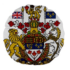 Coat Of Arms Of Canada  Large 18  Premium Round Cushions by abbeyz71
