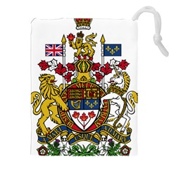 Coat Of Arms Of Canada  Drawstring Pouches (xxl) by abbeyz71
