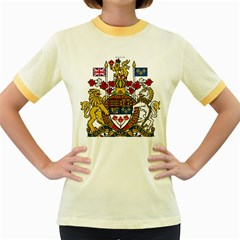 Canada Coat Of Arms  Women s Fitted Ringer T Shirts by abbeyz71