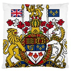 Canada Coat Of Arms  Large Cushion Case (two Sides) by abbeyz71