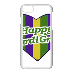 Happy Mardi Gras Logo Apple Iphone 7 Seamless Case (white) by dflcprints