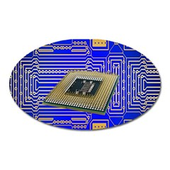 Processor Cpu Board Circuits Oval Magnet