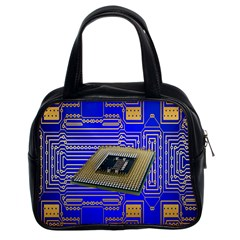 Processor Cpu Board Circuits Classic Handbags (2 Sides) by Nexatart