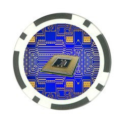 Processor Cpu Board Circuits Poker Chip Card Guard (10 Pack) by Nexatart