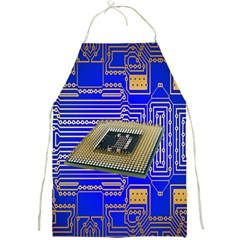 Processor Cpu Board Circuits Full Print Aprons by Nexatart