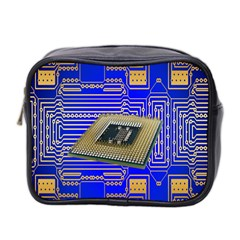Processor Cpu Board Circuits Mini Toiletries Bag 2 Side