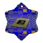 Processor Cpu Board Circuits Ornament (Snowflake) Front