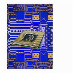 Processor Cpu Board Circuits Small Garden Flag (two Sides) by Nexatart