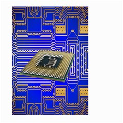 Processor Cpu Board Circuits Large Garden Flag (two Sides) by Nexatart