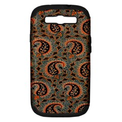 Persian Silk Brocade Samsung Galaxy S Iii Hardshell Case (pc+silicone) by Nexatart