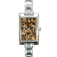 Honey Bee Water Buckfast Rectangle Italian Charm Watch