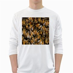 Honey Bee Water Buckfast White Long Sleeve T Shirts