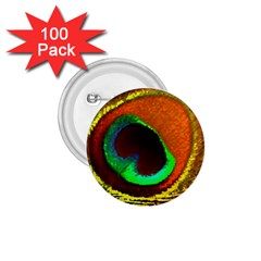 Peacock Feather Eye 1 75  Buttons (100 Pack)  by Nexatart