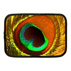 Peacock Feather Eye Netbook Case (medium)  by Nexatart