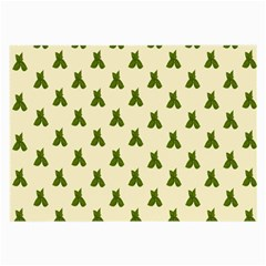 Leaf Pattern Green Wallpaper Tea Large Glasses Cloth (2 Side) by Nexatart
