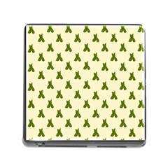 Leaf Pattern Green Wallpaper Tea Memory Card Reader (square) by Nexatart