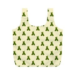 Leaf Pattern Green Wallpaper Tea Full Print Recycle Bags (m)  by Nexatart