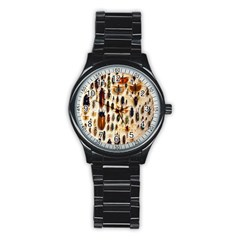 Insect Collection Stainless Steel Round Watch by Nexatart