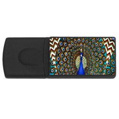 The Peacock Pattern Usb Flash Drive Rectangular (4 Gb) by Nexatart
