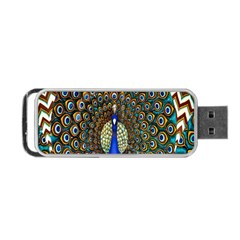 The Peacock Pattern Portable Usb Flash (two Sides)
